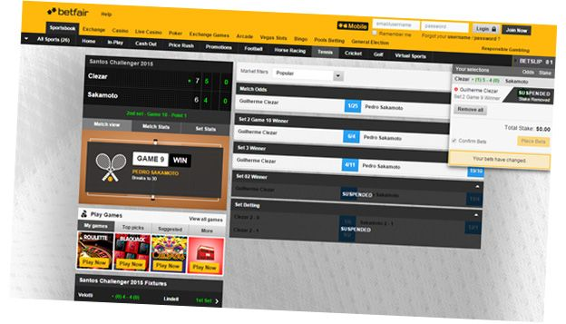 Betfair website