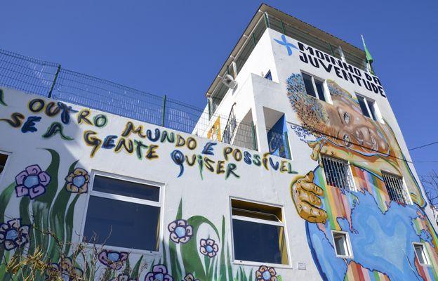Mural at Moinho da Juventude