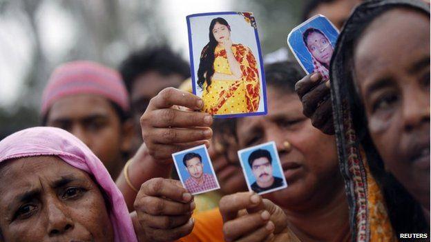 Relatives of Rana Plaza victims