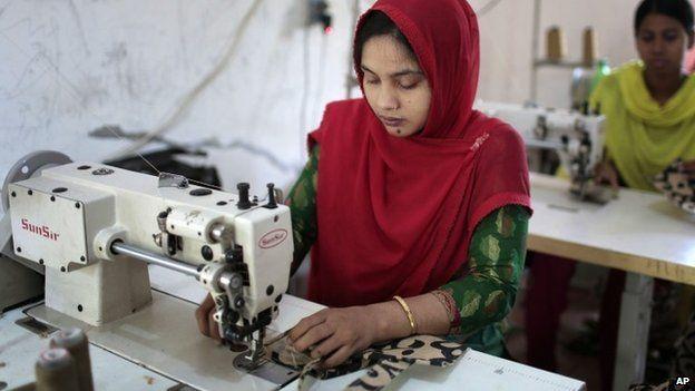 Worker at Bangladeshi garment factory