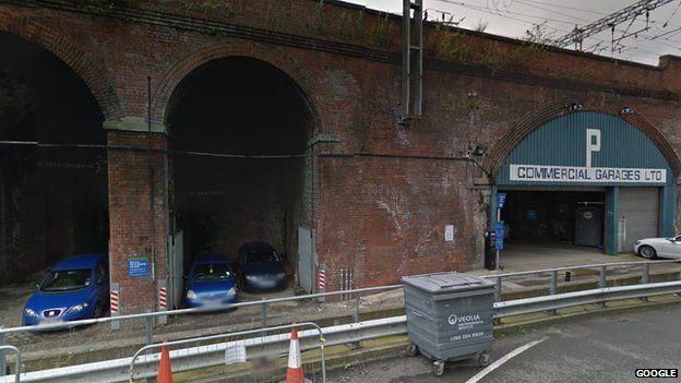 Railway arches near Swinegate in Leeds