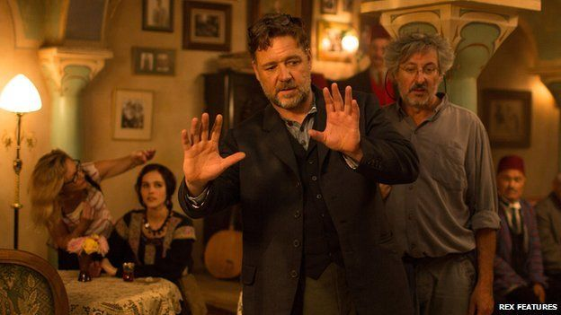 Russell Crowe and Andrew Lesnie on the set of The Water Diviner