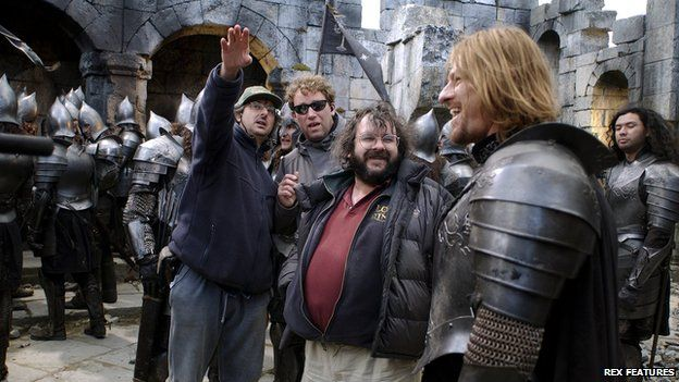 On the set of Lord of the Rings
