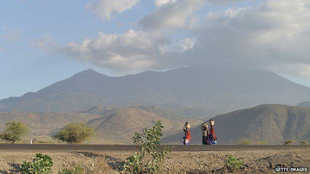 A scene in rural Tanzania