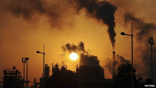 File image of pollution from factory in China