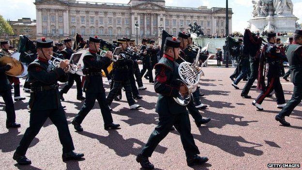 Gurkhas marching in London