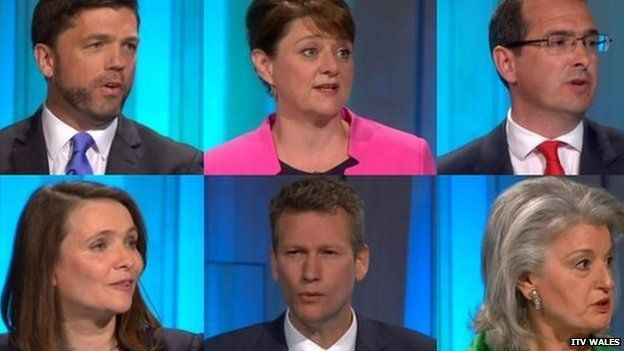Stephen Crabb, Leanne Wood, Owen Smith, Kirsty Williams, Nathan Gill and Pippa Bartolotti