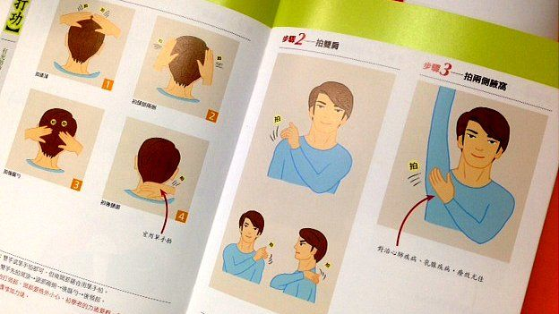 Picture of diagrams in The World of Medicine by Xiao Hongchi, taken 1 May 2015