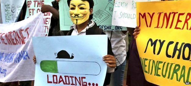 Internet.org protest
