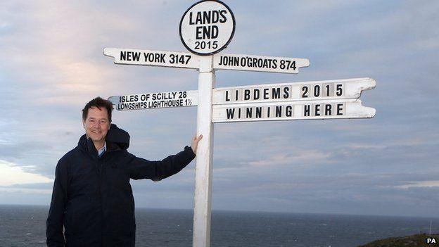 Nick Clegg at Land's End