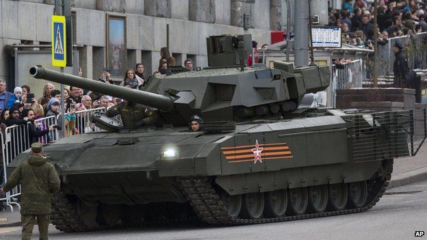 Armata T-14 battle tank, 4 May 15