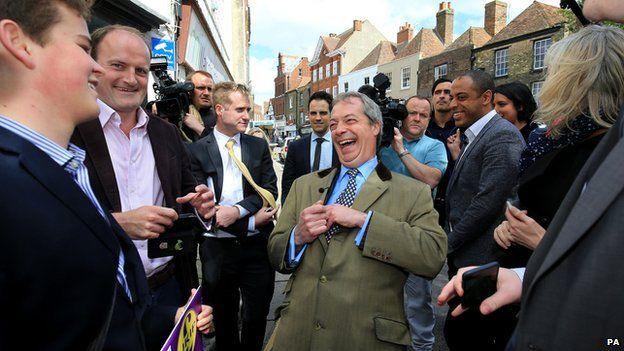 Nigel Farage campaigning in Sandwich
