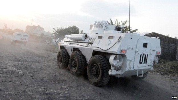 Tanzanian peacekeeping convoy in eastern DR Congo - Archive shot