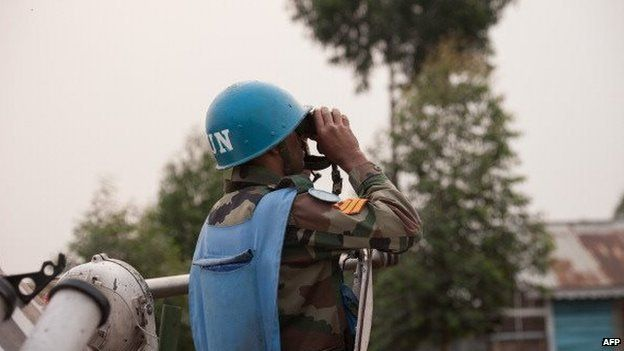 Indian peacekeeper in DR Congo