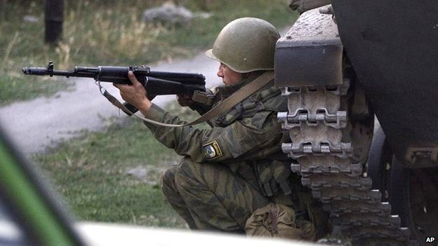 Russian soldier in South Ossetia, 11 Aug 08