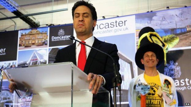 Ed Miliband speaking after retaining his seat