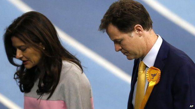Liberal Democrat leader Nick Clegg and wife Miriam Gonzalez Durantez