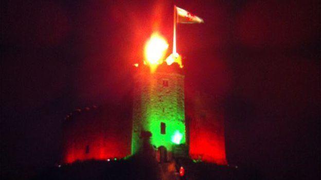 Cardiff Castle beacon