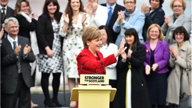 Nicola Sturgeon said Scotland's voice would be heard louder than before