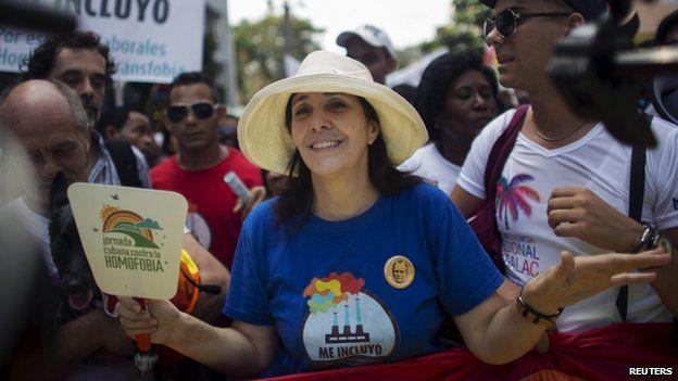 Mariela Castro at the gay pride march