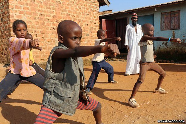 A kung fu school for the children in the neighbourhood
