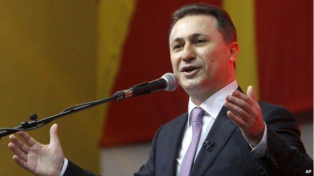 Macedonian Prime Minister Nikola Gruevski