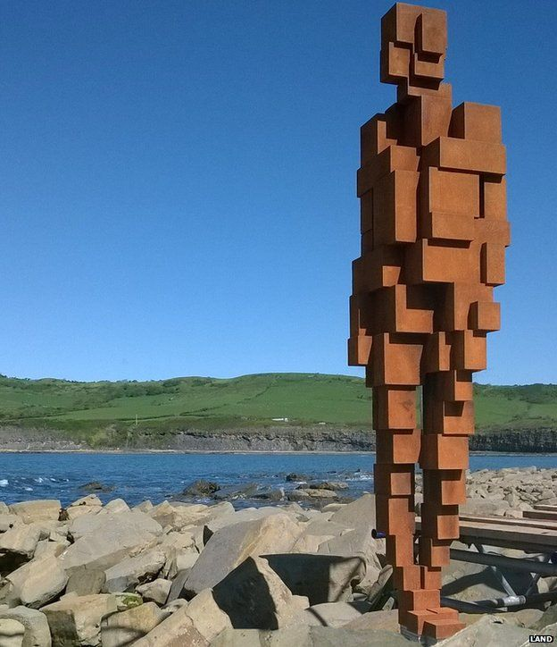 Gormley sculpture at Clavell Tower
