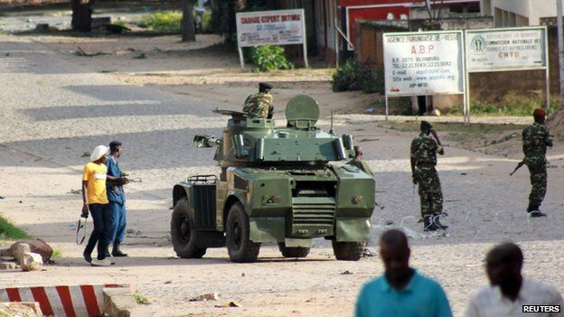 Troops on the streets of Bujumbura. 13 May 2015