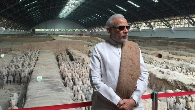 Narendra Modi at the Terracotta Warriors
