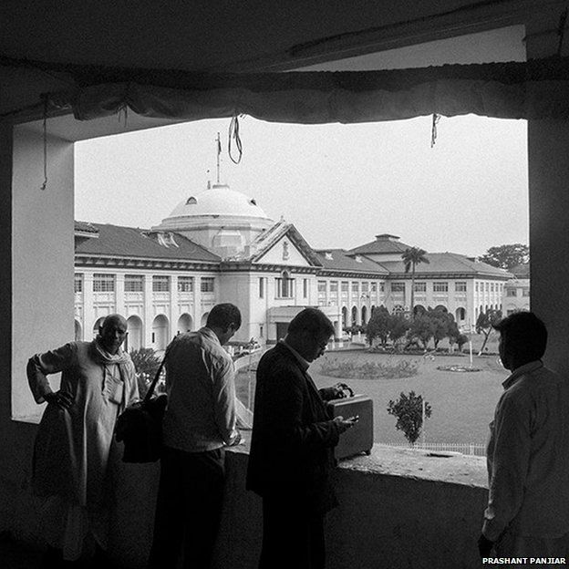 A view of Patna High Court from the balcony