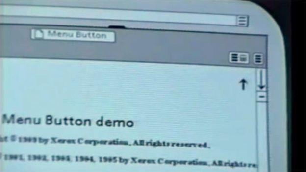 """The """"air vent"""" icon on a Xerox display"""