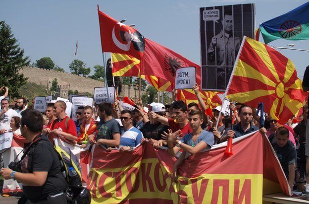 Protesters in Skopje. Photo: 17 May 2015