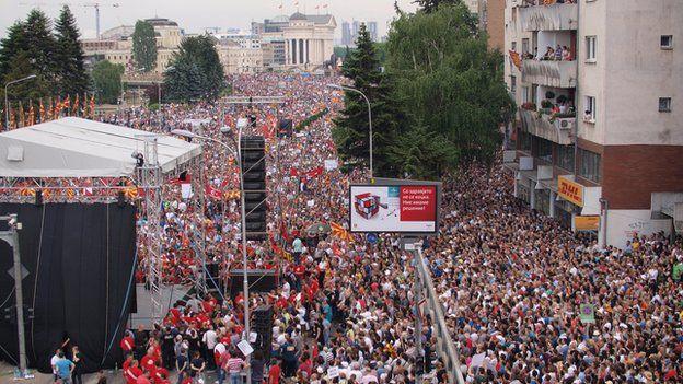 Crowd in Skopje
