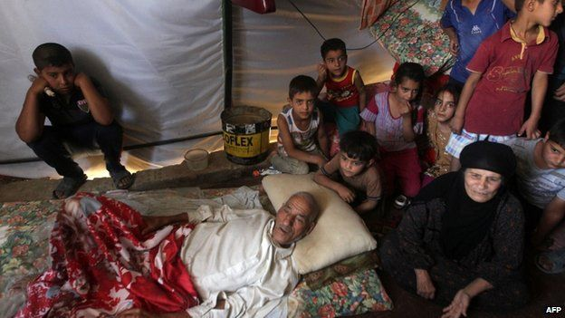 Iraqi family in Bzeibez, Anbar, 18 May