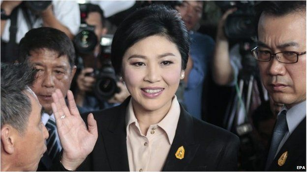 Yingluck Shinawatra arrives at court (19 May 2015)