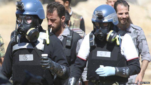 UN chemical weapons inspectors, 28 Aug 2013