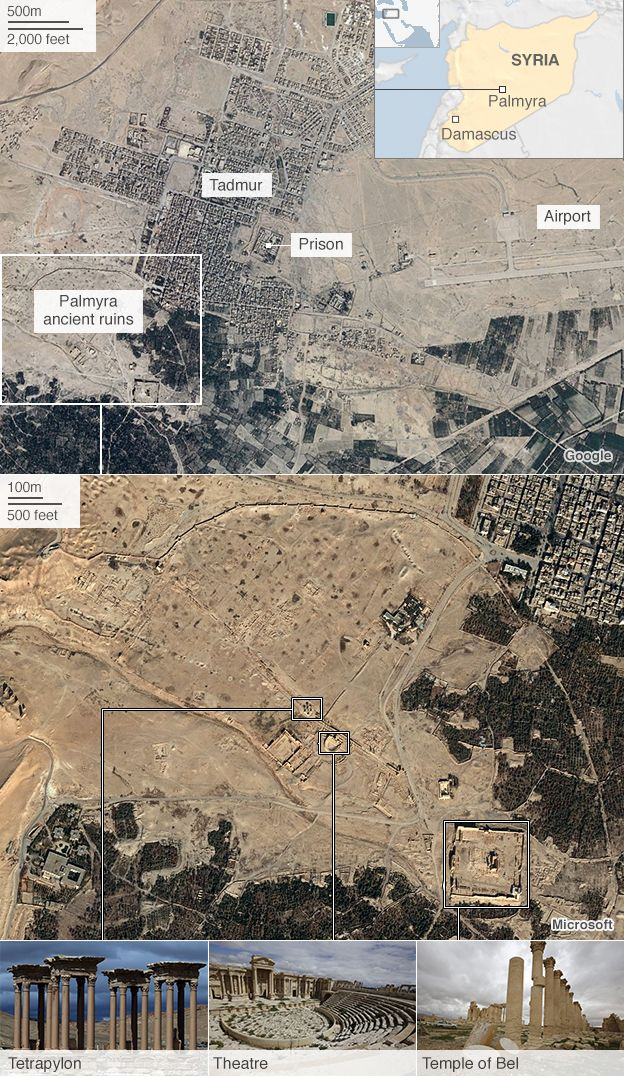 Graphic showing Palmyra sites