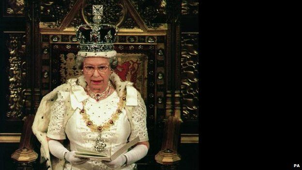 The Queen addressing MPs and peers in 1994
