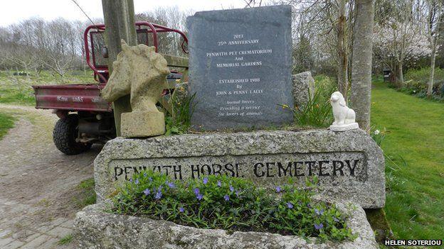 The horse cemetery at Penwith Pet Crematorium