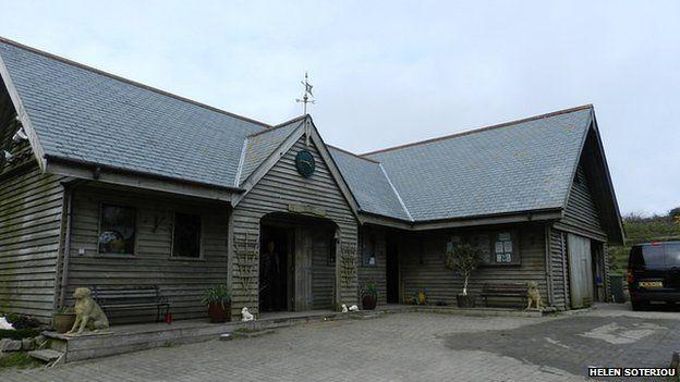 The crematorium building at Penwith Pet Crematorium