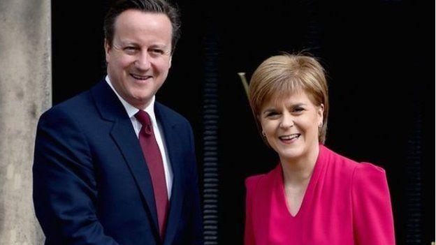 David Cameron a Nicola Sturgeon