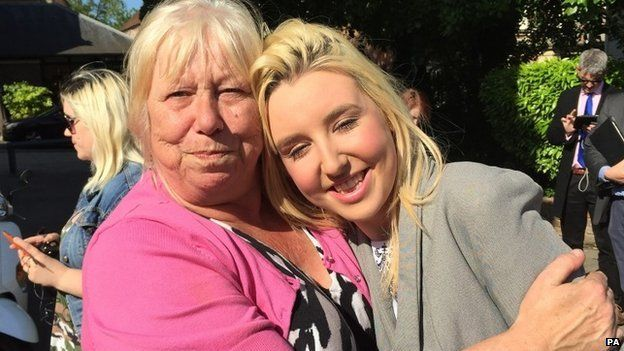 Stacey Hyde with her mother, Diane
