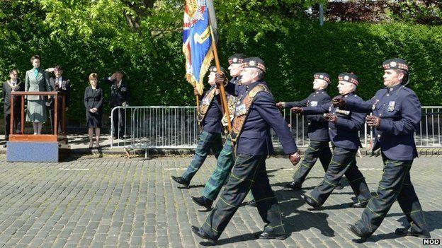 Princess Royal takes the salute