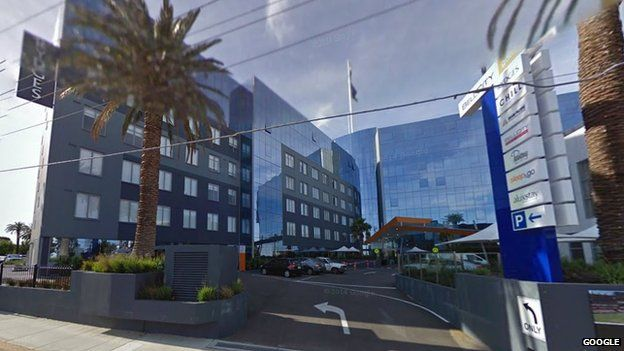 Google Street View of the Rydges Bell City Hotel