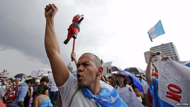 Protest in Guatemala City