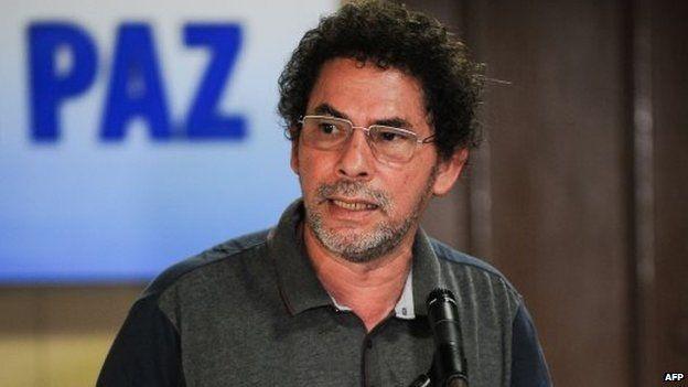 Pastor Alape during peace talks in Havana