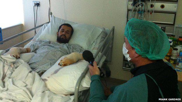Frank Gardner interviews injured police officer in 2011