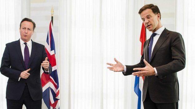 David Cameron and Mark Rutte