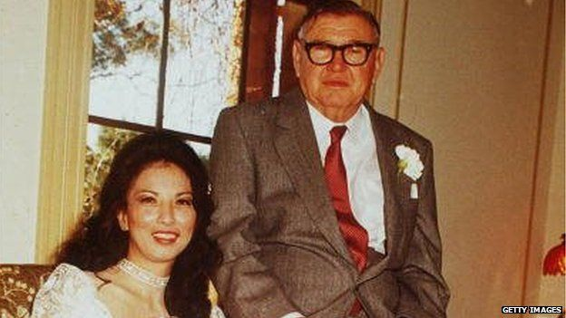West Australian mining magnate Lang Hancock marries Rose at a private ceremony in Sydney, Australia in 1985