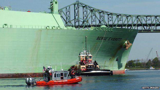 LNG ship arriving in Boston